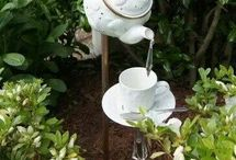 Garden ornaments made out of all sorts