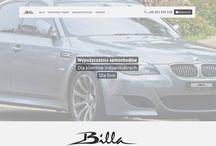 Strona www dla wypożyczalni Billa