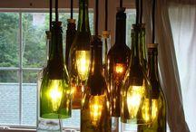 articulos  varios con botellas