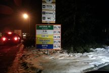 Czech Tourist Prices / Prices in Czech Republic, on streets, on sandwich boards, advertisements