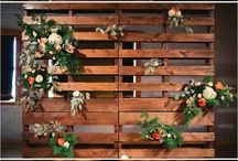 Wedding Back Drop Ideas / Assorted Ideas for the ceremony backdrop