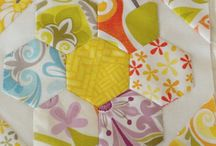 Hand sewing patchwork