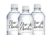 Water Bottle Labels / Personalized water bottle labels add a unique touch to your wedding welcome bags, reception, shower & party decor!
