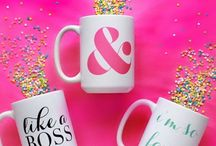 Moon And Lola Mugs / Start your day in a happy way with one of our designer coffe mugs from Moon and Lola. These adorbs mugs are available in 3 font colors. Choose hot pink, mint or ebony font to design your fancy style coffee or tea mug that will bring a smile to your face at the start of every day! The Three Hip Chicks will be giving these super cute mugs as gifts for friends, family and co-workers since we are obsessing over ALL of them!