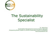 Sustainability Specialist