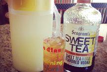 Pour up, drank.