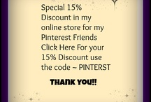 Specials For My Pinterest Followers Only :) / Thank you for connecting with me here on Pinterest. Here are a few thank you specials for your interest.