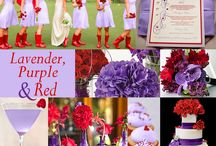red/purple wedding