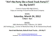 Looking for Food Trucks in LA or OC / Flyers promoting food truck events. You can also find this at lookingforfoodtrucks.com.