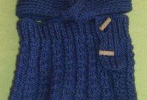 czapki, kominy na drutach