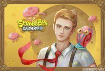 Spongebob Squarepants and friends as human by XiaozuoZ