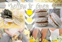 {Wedding} Yellow & Grey Color Combo