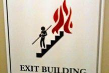 Fun Office Signage / Kumpulan Signage lucu, unik dan kreatif. Cocok untuk menarik perhatian dilingkungan kantor .