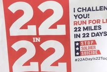 #22in22Challenge / 22+ Veterans lose their lives to suicide each day. We're asking people to run, walk, cycle, skateboard, jump rope, etc., 22 miles in 22 days. Hashtag your photos #22in22Challenge and post your progress. Download a poster, take a pict with it and use it to challenge friends!