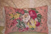 Vintage fabric pillows and cushions