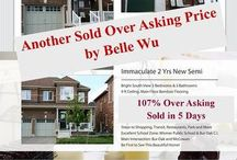 Sold Sold Sold / New Listings in Toronto, Markham, Richmond Hill and Vaughan.