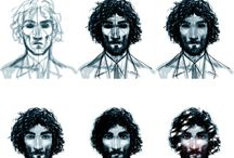 """Process / Some of my illustrations """"step by step"""""""