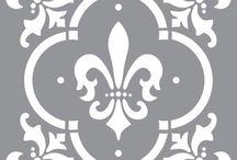 Plantillas de stencil o estarcido / Trabajos de manualidades con plantillas.