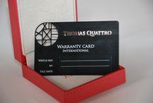 Carte de garantie en métal pour horloger