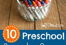 Homeschool Preschooling / Play little one, that is how you learn! Tons of fun ways to help your preschooler begin learning and exploring the world!