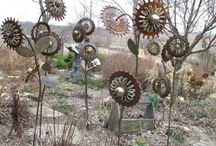 2) Rusty garden and home, recycling