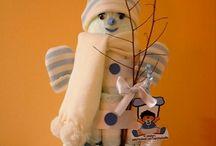 Tartas de Pañales Invierno / Para más información o presupuestos en www.caprichosisama.es