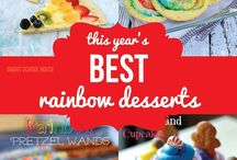 Rainbows / Rainbows are the perfect topic for preschool and lower elementary school children. They are pretty - great for arts and crafts - fascinating - a winner for science class - and decorative. All kinds of rainbow art, craft, food can be found here :)