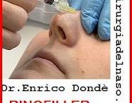 Rinofiller - Rinoplastica non chirurgica / Il rinofiller ( o rinoplastica non chirurgica) è una metodica che consente mediante iniezioni di acido ialuronico di modificare alcuni inestetismi nasali senza ricorrere all'intervento chirurgico / by Dr. Enrico Dondè RINOPLASTICA RINOFILLER