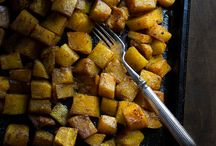 5 spice butternut squash / Additional yum veg