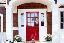 Front Door     Exterior Entries / Home entryways, front door, front steps, sidelight windows