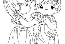 Precious Moment Coloring Pages / by Molly Markiewicz