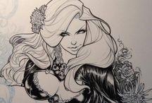 desenhos preto\branco de mulheres / desenhos que pretendo fazer.