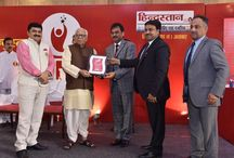 HINDUSTAN TIMES ACHIVERS AWARD 2015 / In HINDUSTAN ACHIVERS AWARD 2015 held today 29th September 2015, 'SHRI GROUP' was awarded LIFE TIME ACHIEVEMENT AWARD, for the great contribution in the development of 'MATHURA'. The award was given by Hon'ble Governor, Uttar Pradesh, Shri Ram Naik to the Directors Shri Sudeep Agrawal and Shri Ram Agrawal on behalf of 'SHRI Group'.