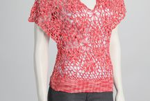 crocheted lace vests and some shawls