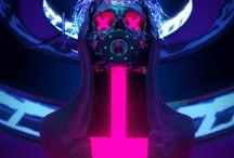 psyché rétro futuriste ART
