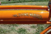 1912 Flying Merkel Bicycle restored & painted by Dutch Bros. Garage / 1912 Flying Merkel Bicycle with wooden wheels restored and painted by Dutch Bros. Garage / by Dutch Bros. Garage