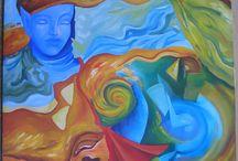 TURBINI E TEMPESTE CAVALCHERO' / VOLRO' TRA I FULMINI / Opere da me realizzate ispirate alle canzoni di Gianna Nannini. Il doppio titolo è per le due mostre personali che ho relizzato con queste opere
