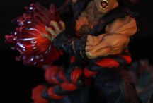 1:6 Evil Ryu statue / Here is the pictures of our 1:6 Evil Ryu statue which is part of a diorama with Oni Akuma.