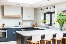 Kitchen peninsulars, lights
