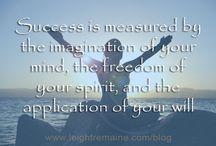 Inspirational Words / Enjoy these inspirational words about self-development and authentic and holistic living