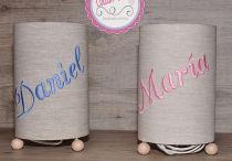 Lámparas personalizadas / Lámparas bordadas y personalizadas con el nombre.