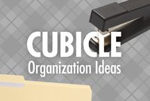 Cubicle Organization Ideas / Make your office work for you, with Alejandra Costello's office organization ideas, best products, videos, and tips! Go ahead and fire your office clutter, so you can enjoy a greater sense of peace and productivity at work – both of which position you for greater success! / by Alejandra Costello | Home Organizing Tips, Ideas, Videos, & Best Products