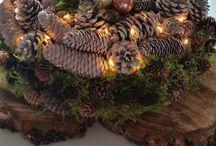 Holzscheiben Advent