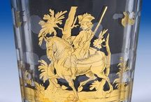 Double-walled (Zwischengoldglas-Dvojstěnky) eighteenth-century glass / Glass art