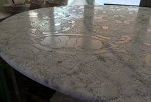 Engraved Lace on marbles. / Lace effect on Marble