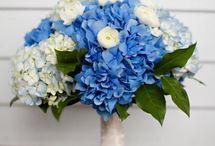 She Said Yes Blue / wedding flowers
