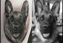 Tatuaże z psem / Dog tattoo
