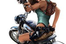 Moto - girl. .