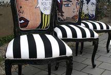 sillas pintadas a mano