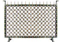 AD Iron: Firescreens / Inspired by the artistry of 18th and 19th Century Blacksmiths, our Antigua Fireplace Screen collection originates from original designs from yesteryear. Distinct and bold in design, hand-forged in Iron and Bronze, Antigua captures the Old World elegance of New Spain of the Americas.